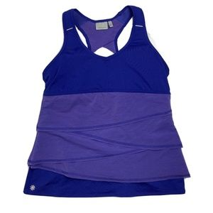 Athleta Swagger Tiered Racerback Tank XL Purple